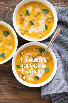 CARROT GINGER SOUP RECIPE for the blender  [Vegetarian; dairy, sugar, gluten-free]