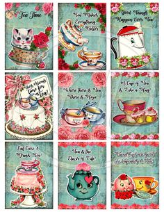 Tea Makes Everything Better Digital Collage sheet displays retro images for your creative crafting supply needs. These images are great for gift tags, ACEOs, ATCs, mixed media, scrapbooking, greeting cards, collage, tags, altered art, tile, domino, and microscope slide pendants.  You may also like the other sets I have available as well:  https://www.etsy.com/shop/HopePhotoArt?ref=l2-shopheader-name&search_query=vintage+tags  Paypal only. Once your order has ...