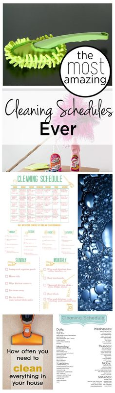 The Most Amazing Cleaning Schedules Ever