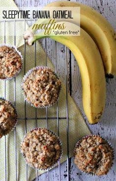Sleepytime Banana Oatmeal Muffins - Gluten Free #IWasSoTired