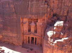 """PETRA, JORDAN - """"The most amazing ancient city built into the mountains. You will be blown away and constantly wonder how they did it!!"""" - Ian"""
