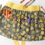 Ever seen a Crayon Apron? How fun!  I want to learn to sew!!!