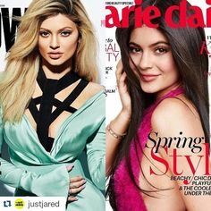 #Repost @justjared with @repostapp ・・・ #KylieJenner is on two magazine covers this week - #Adweek and #MarieClaire! Read the interviews now on JJ.