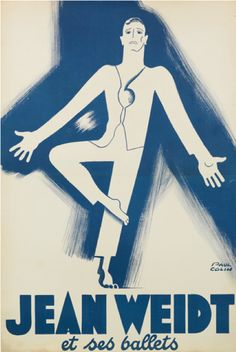 """By Paul Colin(1892-1985), 1938, Jean Weidt et ses Ballets. (Weidt  was a German born and trained dancer, he founded his own company""""Les Ballets 38"""")"""