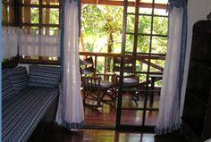 bedroom at the tree house at montezuma beach houses