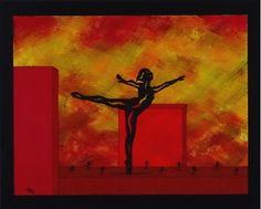 Workout, Red, Painting, Ballet, Dance, Idea Paint, Canvas, Art Ideas, Painting Art
