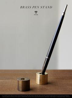 【楽天市場】BRASS PEN STAND/ブラス ペンスタンド Picus ピクス 真鍮 削りだし 無垢 アンティーク 錆 ペン立て 書斎 【あす楽対応_東海】:interior shop Nia (ニア)