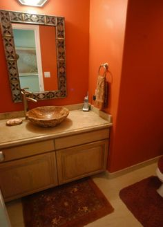 red powder room | Decorating Powder Rooms to Get Impression Your Guests | Home Design ...