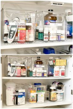 Makeover and organize with me as I share my ideas and create an aesthetic look to my medicine cabinet. Makeover and organize with me as I share my ideas and create an aesthetic look to my medicine cabinet. Medicine Cabinet Organization, Bathroom Organisation, Medicine Storage, Organize Medicine, Organize Bathroom Cabinets, Kitchen Cabinets, Bathroom Storage, Organizing Bathroom Closet, Medicine Cabinet Redo
