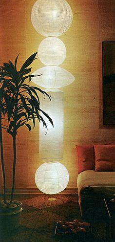 1960s DIY projects – geometric wall treatment, vertical lanterns