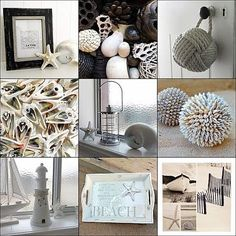 Beach Theme Decorating: Beach Theme Decorating in Black and White