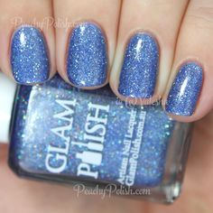 Glam Polish CRASH! | Knockout Collection | Peachy Polish - on the fence, do I NEED it or just LOVE it??  ;)  #blue/purple