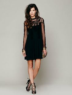 Free People Write About Love Dress in black or ivory, $268.00