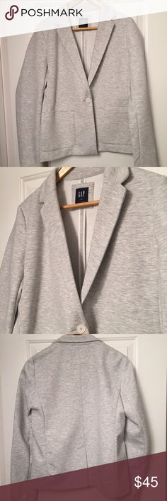 Gap Women's Cotton Blazer - Size L Tall Structured cotton grey blazer from Gap. Comfortable and stylish for easy wear. New without tags. GAP Jackets & Coats Blazers