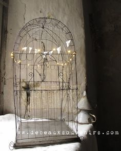 Big Bird cage in wire Grand Palais by Debeauxsouvenirs on Etsy