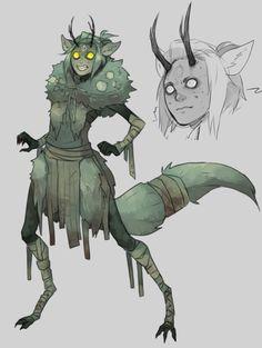 sketch of an original character by kada-bura on tumblr