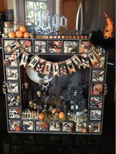 Canadian Nickel Scrap'n: Altered Halloween Advent Calendar w/ Video