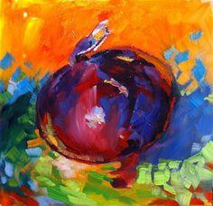 """""""Red Onion Sonnet"""" - Original Fine Art for Sale - © Laura Gable"""