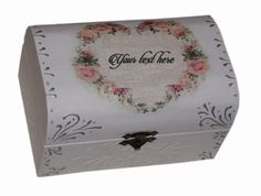 Handmade decorated jewelry box, Rose jewelry box, Painted jewelry box, Gift jewelry box, Personalized jewelry box, Transylvania gift
