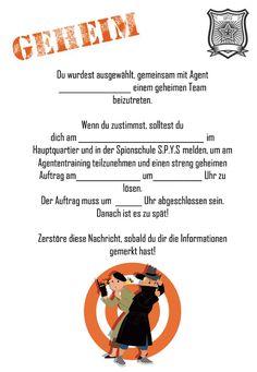 Der Spionschule - Escape Game zum Selbermachen!