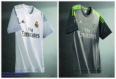 Real Madrid 2015 2016 adidas White Home and Gray Away Football Kit 724d24759859a