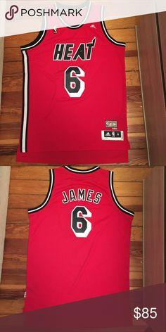Retro Adidas Miami Heat LeBron James NBA Jersey Men s Medium. New without  tags. Retro bb85a28c5