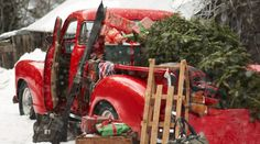 Good Ideas For You | Christmas Decoration Mix Want a Red Pick-Up to do this kind of pic's