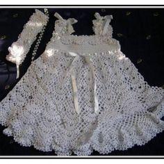 Crochet Baby Christening Dress Pattern Free