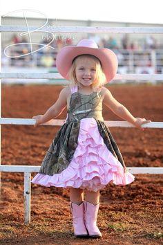 Cute pink camo dress and cute little girl! Cute Kids, Cute Babies, Baby Kids, Costume Halloween, Little Girl Dresses, Flower Girl Dresses, Flower Girls, Girls Dresses, Kids Outfits