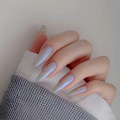 Excited to share this item from my #etsy shop: Long union nail Ombré Fake press on Nails Wearable Disassembling  Short nail tips Faux Rhinestone Decoration art goods,nail decals,nail art Acrylic Nail Tips, Cute Acrylic Nails, Glue On Nails, Gorgeous Nails, Pretty Nails, Nail Manicure, Gel Nails, Nail Polish, Asian Nails