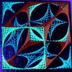 String Art : Cube 3D 27x27 cm PSY ART SHOP