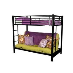 twin over futon metal bunk bed   black bedroom how to assemble a futon bunk bed metal with futon bunk bed      rh   pinterest