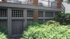 doors under deck of screened porch for storage