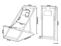 Wooden Folding Deck Chair Grey AVELLINO - Beliani.de Pool Patio Furniture, Beach Furniture, Folding Furniture, Diy Pallet Furniture, Small Furniture, Outdoor Folding Chairs, Deck Chairs, Beach Lounge Chair, Macrame Hanging Chair