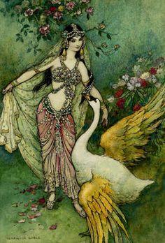 "Warwick Goble's ""Leda and the Swan"""