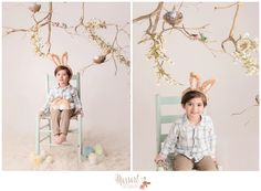 Easter mini session inspiration! Bunnies, chicks, eggs, nests, birds, branches, flowers | Photo by Massart Photography of Warwick, RI www.massartphotography.com; info@massartphotography.com