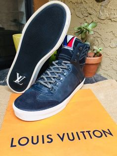 efaed0588fd AUTH LOUIS VUITTON MENS SHOES SNEAKERS BOOT WINTER US SIZE 8 MADE IN ITALY   fashion