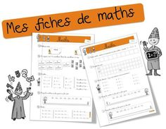 Exercices Maths CE1 sur 1 an | Bout de Gomme Becoming A Teacher, Math Fractions, Home Activities, Teaching Resources, Montessori, Voici, Parenting, Classroom, Positivity