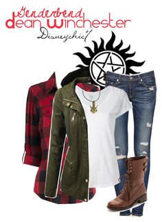 """Dean Winchester Genderbend ((:"" by disneychic7 ❤ liked on Polyvore featuring Jeckerson, rag & bone/JEAN, Majestic Filatures, J.TOMSON and Sam Edelman"
