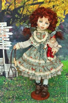 Купить Давай поиграем? - рыжий, кукла, рыжая девочка, рыжая кукла, клоун, игрушки