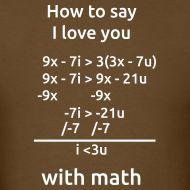 How to say I love you with math