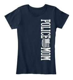 Police Mom New Navy Women's T-Shirt Front Print - #policemom