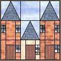 Row Houses: Free quilt pattern for this and other house blocks/quilts. Lovely site!