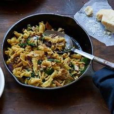 Campanelle with Chicken and Greens