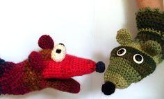 crochet parrot puppet | Yarn Juleps on the Veranda
