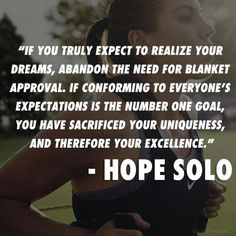 Hope Solo-that's deep Hope