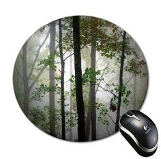 dd422ec10c9f6 Amazon.com : Mouse Pad Forest Design Rainforest Design Round Mousepad : Office  Products