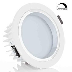 12W 4-Inch Dimmable LED Retrofit Recessed Light 90W Halogen Equivalent LED Downlight w/ Reflector trim, Frosted Glass Lens, Slim Size Ceiling Light for New Construction and Remodel 6000K Daylight ** More info could be found at the image url. #LampLightingFixtures
