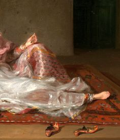 Detail from Muslim Lady Reclining by Francesco Renaldi.