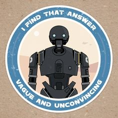 Available for purchase: http://www.redbubble.com/people/nathancruse/works/24634290-k-2so-sticker-rogue-one-a-star-wars-story?p=sticker&size=medium